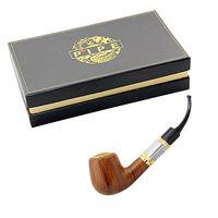 75w Single wood E-pipe 618 Pipe e cigarettes starter kit old-fashioned smoking pipe dry herb vaporizer vape mod vs smok tfv12 glass bongs