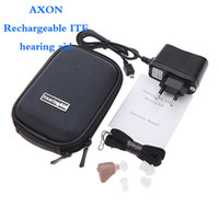 Wholesale Factory direct Hot selling AXON K rechargeable sound amplifer Hearing Aid Aids by EMS DHL FEDEX