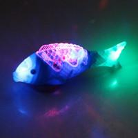 Emballage courrier électrique transparent corps de poissons éclat avec de la musique légère rocking poisson marché nocturne stands fournitures en gros