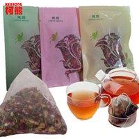 al por mayor floración bolsas de té-Venta al por mayor 8 bolsos de alta calidad de China artística Blooming flor té Belleza natural real aromatizado té mangostán Gomphrena Rose té