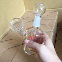 Acheter Tuyau de barbotage en ligne-Vente chaude Bong en verre Tubes en verre 14mm Fumeurs en verre Bongs Mini pétroliers Bubbler Inline Percolator Eau Pipe à fumer