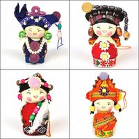 Unisex art rag - National doll Small adorn article colour Eva Puppet doll cloth art toy doll home decorations