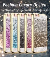 airs rhinestone apple - 3D Diamond Bling Luxury Case For Apple iPhone Plus s plus SE sPlus PLUS Rhinestone Sequin Soft TPU Air Cushion Protective Covers