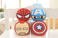 Wholesale car neck Pillow fruit Soft Plush Stuffed car head support funny Toys iron man spider man fashion mixed color choice colors new hot sale