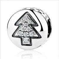 Los nuevos granos verdaderos del encanto del árbol de navidad de la plata esterlina 925 cupieron el regalo original auténtico de la joyería de la pulsera de Pandora