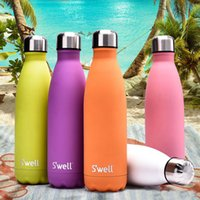 Wholesale New Style Water Cup Swell Insulation Cup ML Sports Stainless Steel Cola Bowling Shape Travel Mugs Vacuum Bottle Cup Color WX C18