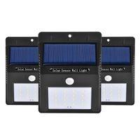 12 LED brillante paneles solares lámpara de jardín al aire libre sensor de movimiento activado luces de energía solar para el patio de esgrima impermeable camino iluminación