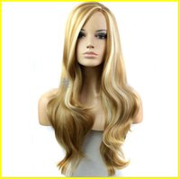 Wholesale Hair Wig New Fashion Long Big Wavy Hair Heat Resistant Wig for Cosplay Party Costume Light Blonde bea030