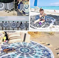 Wholesale Many Patterns New Summer Large Microfiber Printed Round Beach Towels With Tassel Circle Beach Towel Serviette De Plage