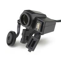 Wholesale New Motorcycle V USB Cigarette Lighter Power Port Integration Outlet Socket v usb power charge socket D