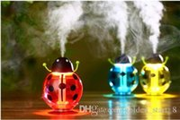 Wholesale Toloyo Small ladybug led Mini Air Humidifier DC V Room Air Diffuser USB Portable ABS Water Bottle Cap Aroma Mist Maker
