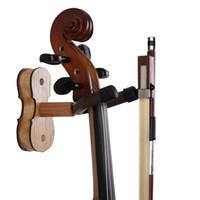 ash hardwood - Wood Violin Hanger with Bow Peg Hardwood Home Studio Wall Mount Hanger for Violin Ash Wood
