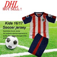 Wholesale DHL LIGA MX KIDS Guadalajara de aniversario que Chivas Youth Soccer Jerseys kit A PULIDO UNAM PUMAS Maillot de foot football shirts