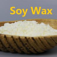 al por mayor materiales orgánicos naturales-Wholesale-100-1000g / bag Cera orgánica natural de la soja para las velas Materias primas Vela que hace fuentes