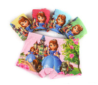 Wholesale 4 Styles Frozen Sofia My little pony cartoon children boxer underwear baby girls cotton pants for kids pants Briefs Panties underpants