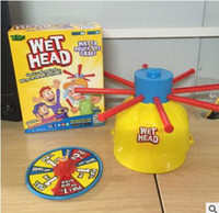 Wholesale 2017 Newest Wet Head Hat Water Game Challenge Wet Jokes And Toy Funny Roulette Game Toys Family Practical Jokes Toy Drop Shipping