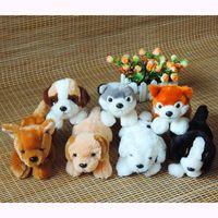 achat en gros de peluche chien chihuahua-Grossiste-1pc 20cm Kawaii réel-comme chiot chiens jouet en peluche Stuffed Simulé chien Husky Lab Pom Saint-Bernard Spotty Chihuahua Kids Toys Cadeaux