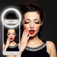 USB recargable anillo selfie luz LED selfie cámara de anillo de mejora de la fotografía para smartphone iPhone Samsung RK-12 paquete al por menor