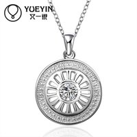 austria stamps - Women Trendy Fashion Necklace With Austria Crystal Pendants Pure Silver Link Chains For Women With Stamp