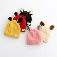bear ear cap - Hug Me Children Caps Baby Cute Cartoon Bear Ears Hats Girls and Boys Caps New Autumn Winter Warm Knitting Hats ER
