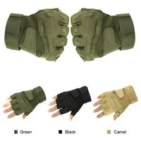 active foam - GL02 Mens Outdoor Military Tactical Gloves Half Finger M XL Airsoft Foam Knuckle Protection