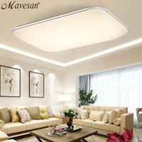 Wholesale ndoor Lighting Ceiling Lights NEW Modern LED Ceiling Light With G RF Remote Group Controlled Dimmable Color Changing Lamp For Livingr