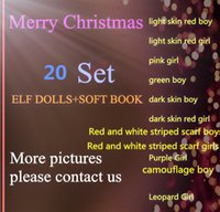 big book covers - DHL Style TOP quality Boys and Girls Christmas Elf Doll toys Elves Xmas dolls and Soft Cover Books For Unisex Kids