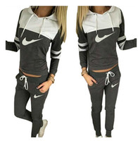Wholesale New Spring Autumn Sport Suits Women Hoodies Sweatshirt Pants Tracksuits Pullovers Active Costumes Woman Joggings sportswear
