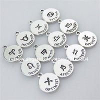 aquarius pendant vintage - Zodiac Vintage Silver Horoscope Constellation Aquarius Pisces Capricorn Pendant