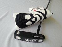 Wholesale factory golf club metal black skull putter top quality freeshipping