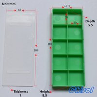Plastic 90.5*38.2*9 CPB-23247 Wholesale- high quality big size green color carbide inserts plastic box, milling, turning, threading tools plastic grid packaging box