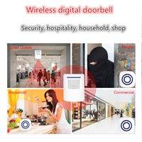 Wholesale New Doorbell Receiving device EU US Plug in Digital LED Music Tune Melody Remote Control Wireless Doorbell Door Bell alarm