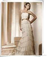 best beaches china - Best Selling Sweetheart Strapless Beach Wedding Dresses Ivory Lace Bridal Gowns Tiered Skirts Floor Length China Bridal Dresses Cheap