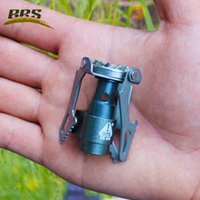 Wholesale BRS Portable camping Gas Stove Hiking Picnic W MINI lightweight Gas burner Titanium outdoor Ultralight Equipment only oz