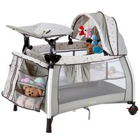 Wholesale Coolbaby multifunctional baby bed portable game bed fashion crib folding baby bed bb