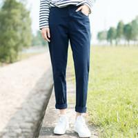 Wholesale 2016 Autumn art college wind haren pants loose black straight jeans casual pants pants females students