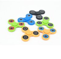 Wholesale EDC Fidget Spinner toy finger spinner toy Hand tri spinner fingertips spiral fingers gyro toy For Decompression Anxiety Toys color KKA1270