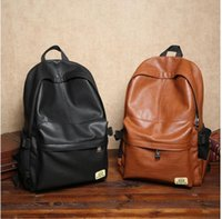 Wholesale Leisure fashion men bag men and women school bags PU leather leisure shopping travel men backpack outdoor leisure backpack