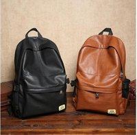 Men art martial school - Leisure fashion men bag men and women school bags PU leather leisure shopping travel men backpack outdoor leisure backpack