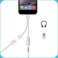 audio connectors and adapters - For Iphone7 Audio Charging Cable in1 mm Headphone Jack Adapter Connector And Charging Cable for Iphone plus