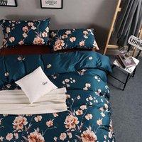 Wholesale 2017 New pattern Decorative pattern Long staple cotton Pure cotton satin Four piece suit cm cm