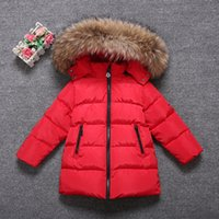 Wholesale Boys Girls Winters Duck Down Coat Brand Boys Duck Down Jackets For Cold Winter Children Thick Duck Down Parkas Girls Fur Collar Outerwear