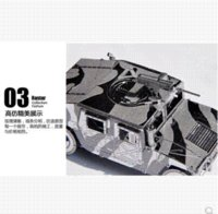 Wholesale ree shipping D jigsaw puzzle DIY miniature three dimensional sculpture assembled nano metal military model Hummer ornaments ornament han