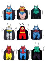 Wholesale Apron Star Wars Top apron Spiderman Wonder women Anime Cartoon Character Series Kitchen Apron Funny Personality Cooking apron Chri