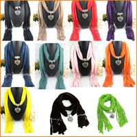 Wholesale 2016 New Arrival Charms Scarf jewellery Pendant Scarf Jewelry Scarves Necklace Scarf