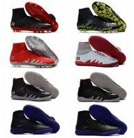 al por mayor jr iluminado-2017 Iluminación oscura Hypervenom Phantom JR 2 II FG Neymar Botas de fútbol Mens Soccer Zapatillas HypervenomX Proximo IC TF Zapatos de fútbol de interior Turf