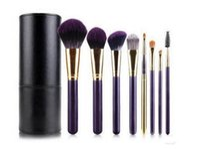Wholesale makeup brushes set purple color blending powder foundation eyes conceal contour make up brush