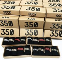 Wholesale 350 V2 Socks with box Color SPLY Men Women Kanye west style Socks Free Size Sports Socks with boost Running shoes