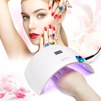 Wholesale UVLED SUN9c SUN9s Nail Dryers W Professional UV LED Lamp Nail Dryer Polish Machine for Curing Nail Gel Art Tools Personal Home Manicure