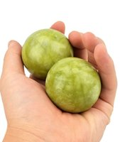 Wholesale Large Green Jade Baoding Balls Chinese Health Stress Exercise Balls